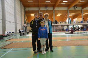 Vlnr: Robin Clercx, Laurent Ghijs, Ares Vandebeek en vooraan Briecq Bauwelinck. Foto: Sandra Cattoor
