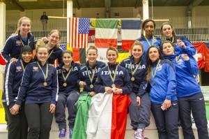 Vlnr: USA (brons) - Italië (goud) - Frankrijk (zilver) - foto: Luc Gevaert