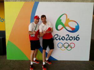 Seppe met bondstrainer Paul Corteyn