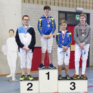 Goud voor Raphaël De Vos, brons voor Timon Lebon!! Foto: Luc Gevaert.