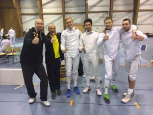 Het Belgische Team vlnr: Yoeri Van Laecke, Etienne Gilles, Nicolas Poncin, Samuel Roudbar, Felix Blommaert en Simon Lapin. Foto: Anne Lapin-Leybaert.