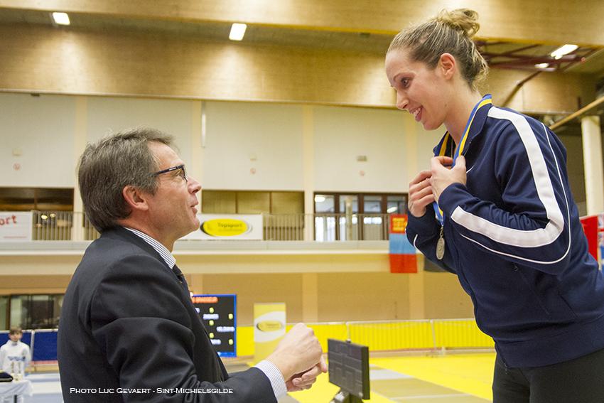 M. Zagunis behaalt de zilveren medaille